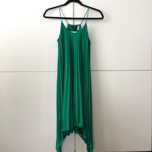 Emerald green accordion dress